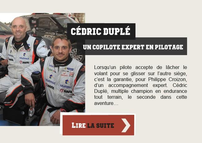 Cédric Duplé - Un copilote expert en pilotage